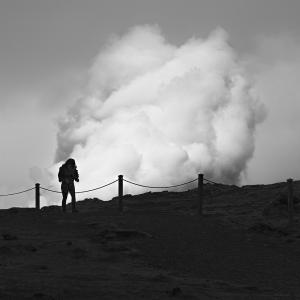 VOLCANIC SMOKE -ICELAND -2016
