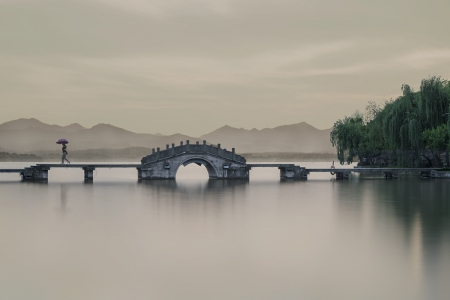 CROSS THE BRIDGE -HANGZHOU -CHINA -2019